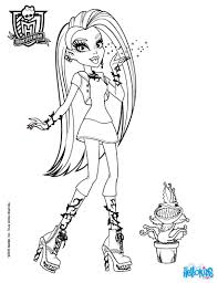 monster high coloring pages chewlian amp venus mc flytrap with