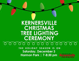 tree lighting 2016 kernersville parks and recreation