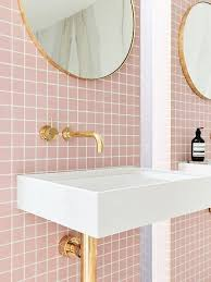 pink tile bathroom ideas pink and gold bathroom ideas houzz