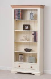 Oak Furniture Uk Country Cottage Painted Funiture Cabinet Cream Large Bookcase