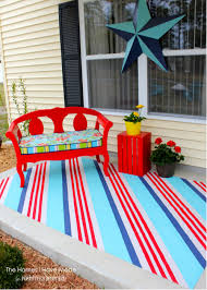 Painting An Outdoor Rug Painted Canvas Floor Cloth From A Drop Cloth