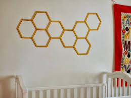 Stick On Wall Diy Honeycomb Hexagon Popsicle Stick Wall Art Pink Stripey Socks