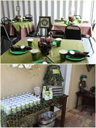 camo party table ideas hunting birthday party pinterest camo