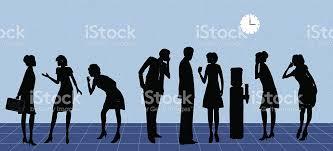bureau distributeur bureau distributeur deau bavardage stock vecteur libres de droits