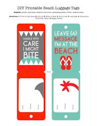 diy printable luggage tags craft