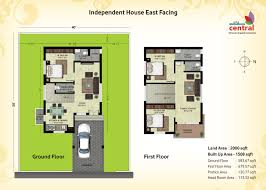 bright and modern 15 1500 sq ft row house plans in homeca