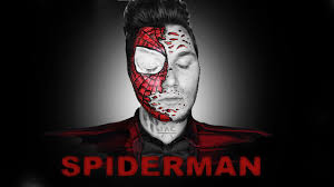 spiderman destroyed mask fasching halloween makeup tutorial