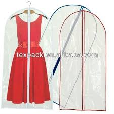 wedding dress bag high quality clear garment bags with pockets wedding dress