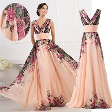chiffon long maxi bridesmaid evening formal ball gown prom party