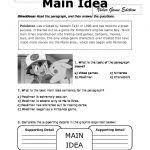 main idea worksheet 4 main idea details worksheet free worksheets