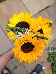 Sunflower Wedding Bouquet How To Simple Sunflower Wedding Bouquetthe Flower Monger