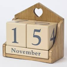 wooden perpetual calendar only 4 99