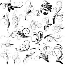 curled floral ornaments illustration 3 ai format free vector