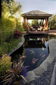 modele de jardin moderne étang de jardin moderne pour héberger les poissons et embellir l