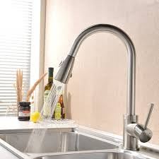 satin nickel kitchen faucet satin nickel faucet with stainless steel sink