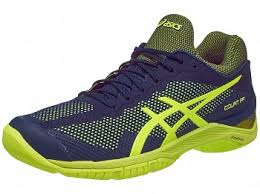 yellow ff asics gel court ff blue yellow s shoes