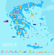 Map Of Greece Islands by 1 035 Greek Islands Stock Vector Illustration And Royalty Free