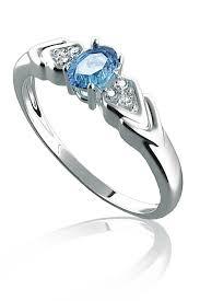 zasnubni prsteny zásnubní prsten bílé zlato diamanty a akvamarín pretis a4