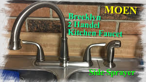 how to instal a kitchen faucet with side sprayer by moen youtube