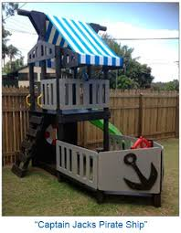 Pirate Ship Backyard Playset cubby house pirate ship theme http www 4kidsnmore com pirate