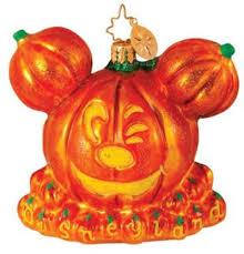 radko disney mickey pumpkin ornament new le600