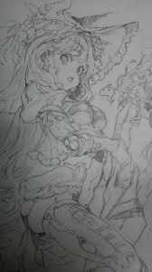 おシャケ on drawings anime and sketches