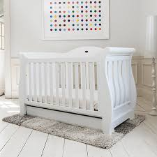 Sleigh Cot Bed White Buy Boori Sleigh Royale Cot Cotbed White John Lewis