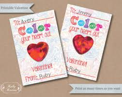 crayon valentines svg crayon card dxf mail child