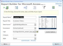 report builder templates report builder for microsoft access the better access report