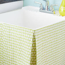 utility sink skirt laundry room makeover crafty ideas