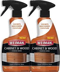 what is the best wood cleaner for cabinets weiman furniture wood cleaner spray 16 ounce 2 pack condition your cabinet door table chairs and more