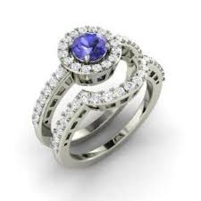 tanzanite wedding rings bridal ring set tanzanite tanzanite bridal rings diamondere