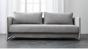 Grey Sofa Sleeper Tandom Sleeper Sofa In Sofas Reviews Cb2
