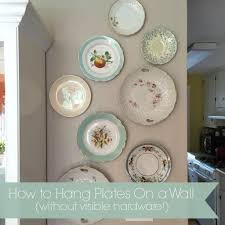 how to hang without nails how to hang plates without visible hardware u2013 simply mrs edwards