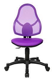 chaise de bureau violette chaise de bureau enfant design en tissu violet mischa chaise de