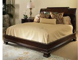 Platform Bed Headboard Leather Headboard King Luxury Classic Solid Wood Bed With