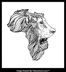 36 best africa map lion face outline tattoo images on pinterest