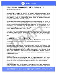privacy policy templates u0026 examples website mobile u0026 fb app