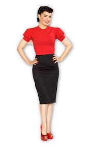 high waisted pencil skirt pencil skirt in black bernie