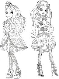 free apple ever after high coloring pages for ever after high