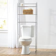 Bathroom Toilet Shelf by Bathroom Chromed Metal Bathroom Storage Over Toilet With Wicker