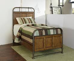 Broyhill Mission Style Bedroom Furniture Twin Metal And Wood Bedstead By Broyhill Furniture Wolf And