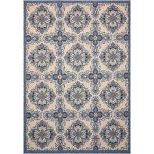 Yellow And Gray Outdoor Rug 9 X 13 Blue Outdoor Rugs Rugs The Home Depot