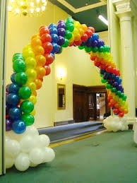 balloon delivery bay area rainbow theme birthday party supplies party balloons
