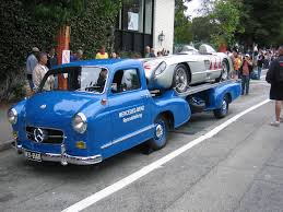 vintage cars 1950s aerodynamic 1950 u0027s mercedes benz car hauler themovement com