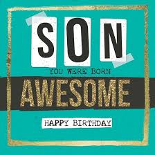 awesome birthday cards you were born awesome birthday card karenza paperie