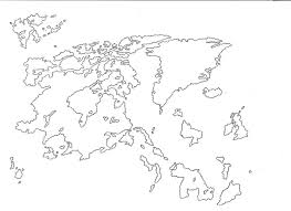 Borderless World Map by Blank Fantasy World Map Black And White