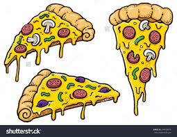 cartoon wine and cheese cartoon pizza slices dripping cheese vector stock vector 394078876