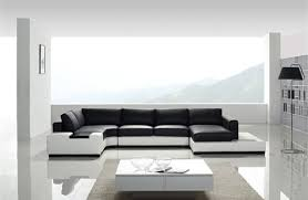 white and black leather sectional sofa tos lf 2029 whb