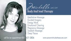 Hypnotherapy Business Cards Body And Soul Therapy Massage Utah Massage Therapy